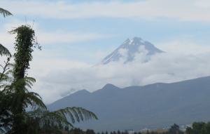 Mt Taranaki, viewed from Omata, just south of New Plymouth.