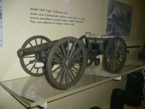 Museum of the Wilderness Battle, Washington DC - on display, Model 1857 Light 12 Pounder Gun used by both Union and Confederacy.