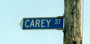 History in road signs - Carey Street, Kihikihi, in the King Country, named after Robert Carey, British Army Officer serving in NZ during the Land Wars.