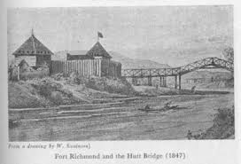 Fort Richmond and the Hutt Bridge, Upper Hutt, 1847. Source: Te Ara.co.nz