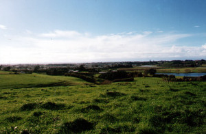Waitara, viewed from the Puketekauere Battle site