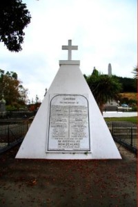 Memorial at Wairau, near Blenheim, commemorating those who died at the Wairau confrontation in 1843.