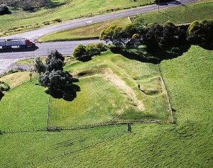 Rangiriri Battlefield today, only a portion of original Pā. British attacked from left of picture (the north). Source - Te Ara Website