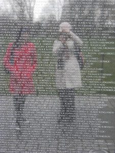Ngaire and Lauren visiting the Vietnam Veterans Memorial Wall, Washington DC.