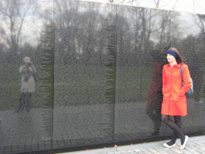 Lauren and Ngaire at the Vietnam Remembrance Wall, Washington DC