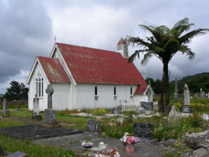 The Church which stands at the Ohaeawai Battle Site, Northland.