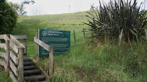 Entrance to Rangriri Battle Site today, Rangiriri, just north of Hamilton. The Highway north to Auckland cuts right through the old Pā.