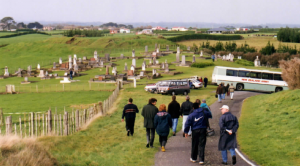 Students visit the site of the Waahi Redoubt, and nearby cemetery, just out of Hawera.