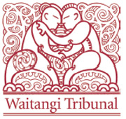 Logo of the Waitangi Tribunal designed by Māori artist Cliff Whiting