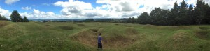 Young Jadyn exploring the Ruapekapeka Battlesite, Northland. Photo by Bryn Thomas.