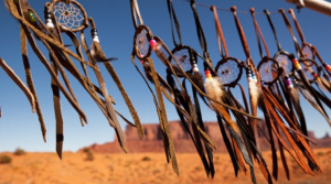 Dream catchers in Monument Valley, SW USA.