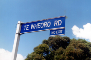 Click to read bio of Wiremu Te Wheoro (1826-1895) - signpost/ road named after Te Wheoro, near Rangiriri, just north of Hamilton and site of the Rangiriri Battle Field (1863).
