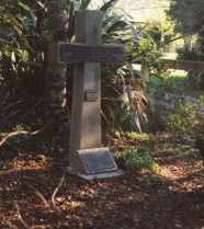 The cross on the site of No 3 Redoubt, Waitara Rd.
