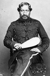 Te Rangi Paetahi Mete Kingi, of Whanganui, one of the first Māori to make it to Parliament, in 1867.