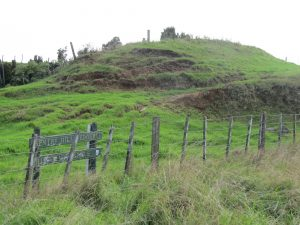 The old battle fields - Sentry Hill, near Waitara.