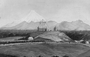 Omata Stockade, Omata, which overlooked the road south from New Plymouth.