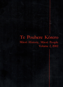 Second issue, Te Pouhere Korero Journal - article by Danny, 'A Few Ventrous Souls', Towards a Comparative History of Māori New Zealand and Native North America', 2002, pp. 82-93.