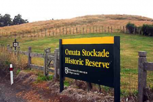 The site of the Omata Stockade today.