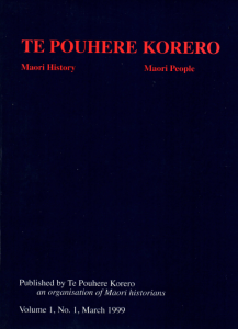 Inaugural Te Pouhere Korero Journal - article by Danny, 'Predicting the Past: Some Directions in Recent Māori Historiography', Vol I : No 1, March 1999, pp. 24-35.