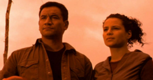 Father and Daughter - Temuera Morrison and Jamie Passier-Armstrong in Crooked Earth.
