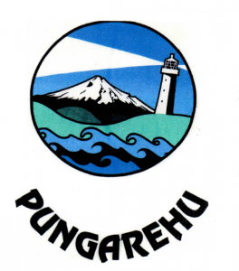 The logo used during the Pungarehu Primary School centenary, 2012.