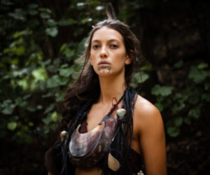 Raukura Turei stars as Mehe in the movie The Dead Lands (2014).