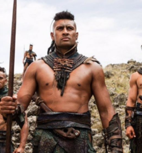 Te Kohe Tuhaka, Māori actor who almost steals the movie, The Dead Lands, not an easy thing against actors of the quality of Lawrence Makoare.