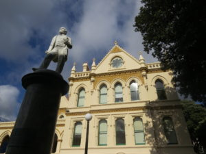 John Ballance statue, Parliament Buildings, Wellington.