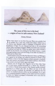 Tutu Te Puehu, New Perspectives on the New Zealand Wars, edited by John Crawford and Ian McGibbon, published by Steele Roberts Publishers, Wellington, October 2018. Danny has writen Chapter One, 'The Cause of this War is the Land', pp. 16-31 (see below left, here is an excerpt).