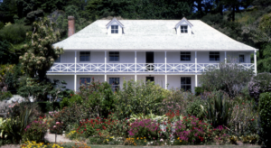 Pompallier House, Russell, formerly the home of NZs first Roman Catholic missionary, Bishop Pompallier, who arrived in 1838.